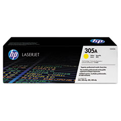 HP 305A (CE412A) Yellow Original LaserJet Toner Cartridge for LaserJet Pro 300 color MFP M375nw, 400 color MFP M475 / M451