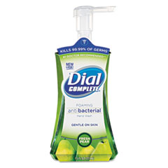 Dial Complete Antimicrobial Foaming Hand Soap, Fresh Pear, 7.5oz Pump Bottle