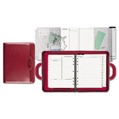 Day-Timer Attach� Style Starter Set Organizer, 3-Ring, Simulated Leather, 8 1/2 x 11, Red