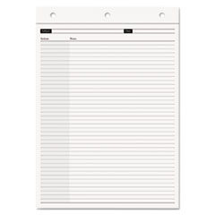 Day-Timer Magna Pad Notation Note Pad Refill, Narrow, 8 1/2 x 12, White, 70 Sheets, 2/Pack
