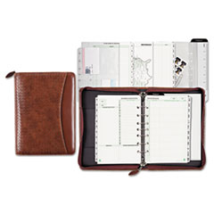 Day-Timer Woven Look Starter Set Organizer, Simulated Leather, 5 1/2