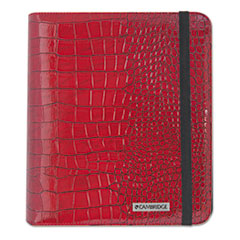 Mead Cambridge Basic iPad Case, Simulated Leather, 9-1/8 x 1-1/8 x 10-1/2, Red