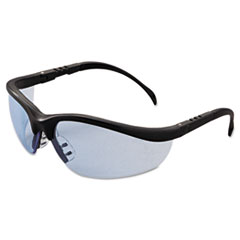 Klondike Safety Glasses, Matte Black Frame, Light Blue Lens