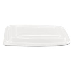 Genpak® LID RECT F-24-32OZ CNTNR Microwave Safe Container Lid, Plastic, Fits 24-32 Oz, Rectangular, Clear, 75-bag