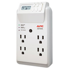 APW P4GC APC Power-Saving Timer Essential SurgeArrest Surge Protector APWP4GC