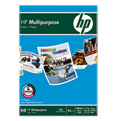 HP Multipurpose Paper, White, 96 Bright, 20lb, Letter, 5000 Sheets/Carton