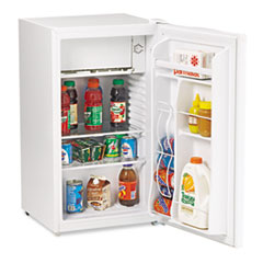 Avanti 3.3 Cu.Ft Refrigerator with Can Dispenser and Door Bins, White