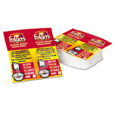 Folgers Coffee Premeasured Packs, Classic Roast Regular, 1.05 oz Vacket, 42/Carton