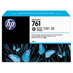 CM996A (HP 761) Ink Cartridge, 400 mL, Dark Gray