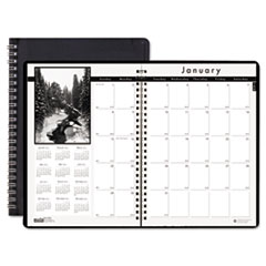 House of Doolittle Monthly Planner w/Black-&-White Photos, 8-1/2 x 11, Black, Dec.2014 - Jan.2016