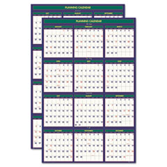House of Doolittle Four Seasons Reversible Business/Academic Wall Calendar, 24 x 37, 2012-2013