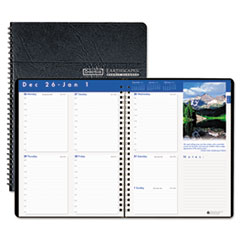 House of Doolittle Earthscapes Weekly Appointment Book, 8-1/2 x 11, Black, 2013