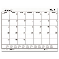House of Doolittle One-Color Dated Monthly Desk Pad Calendar Refill, 22w x 17h, 2016