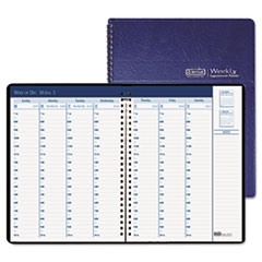 Weekly Appointment Book, Half-Hour Appointments, 8-1/2 x 8-1/4, Blue, 2013