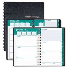 House of Doolittle Express Track Weekly/Monthly Appointment Book, 8-1/2 x 11, Black, 2013-2014