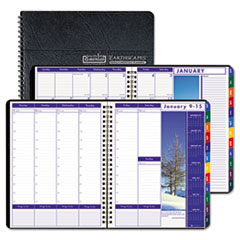House of Doolittle Earthscapes Executive Hardcover Weekly/Monthly Planner, 8-1/2 x 11, Black, 2015
