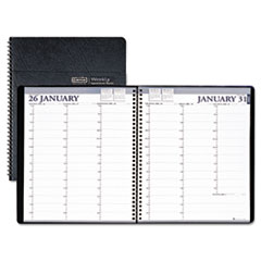 House of Doolittle Professional Weekly Planner, 15-Minute Appointments, 8-1/2 x 11, Black, 2014