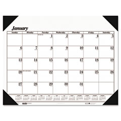 House of Doolittle Workstation-Size One-Color Monthly Desk Pad Calendar, 18-1/2 x 13, 2013