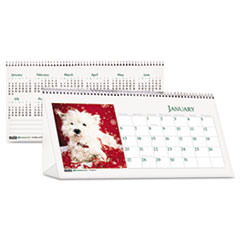 House of Doolittle Puppy Photos Desk Tent Monthly Calendar, 8-1/2 x 4-1/2, 2013