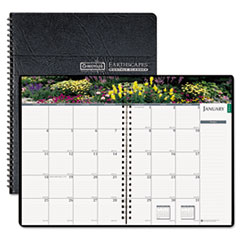 House of Doolittle Gardens of the World Ruled Monthly Planner, 7 x 10, Black, 2014