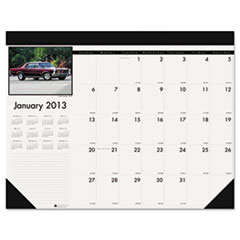 House of Doolittle Classic Cars Photographic Monthly Desk Pad Calendar, 18-1/2 x 13, 2013