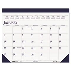 House of Doolittle Two-Color Refillable Monthly Desk Pad Calendar, 22 x 18, 2015
