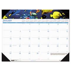 House of Doolittle Sea Life Photographic Monthly Desk Pad Calendar, 18-1/2 x 13, 2013