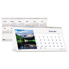 House of Doolittle Scenic Photos Desk Tent Monthly Calendar, 8-1/2 x 4-1/2, 2014