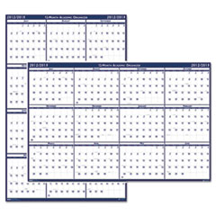 House of Doolittle Poster Style Reversible/Erasable Academic Yearly Calendar, 24 x 37, 2013-2014