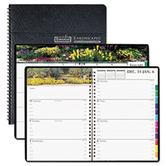 Gardens of the World Weekly/Monthly Planner, 7 x 10, Black, 2013