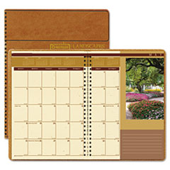 House of Doolittle Landscapes Full-Color Monthly Planner, Ruled, 8-1/2 x 11, Brown, 2013