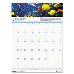 House of Doolittle Sea Life Scenes Monthly Wall Calendar, 12 x 16-1/2, 2014