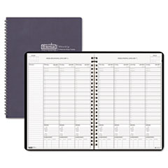 Weekly Planner w/Expense Log, 8-1/2 x 11, Blue, 2013