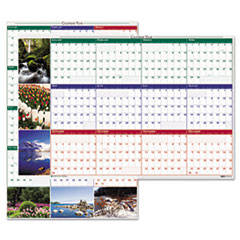 House of Doolittle Earthscapes Nature Scene Reversible/Erasable Yearly Wall Calendar, 24 x 37, 2013