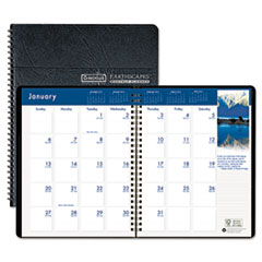 House of Doolittle Earthscapes Full-Color Monthly Planner, 8-1/2 x 11, Black, 2014-2015