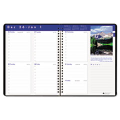 House of Doolittle Earthscapes Executive Hardcover Weekly Appointment Book, 8-1/2 x 11, Black, 2015