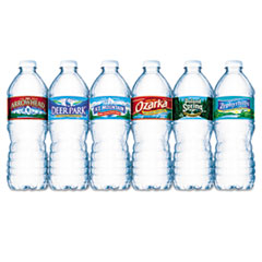 Nestle Waters Bottled Spring Water, .5 Liter, Bottles, 24/Carton