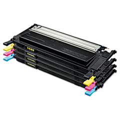 Samsung CLTP409C Toner, 1000 Page-Yield, Black/Cyan/Magenta/Yellow, 4/Box