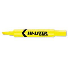 HI-LITER Desk Style Highlighter, Chisel Tip, Yellow Ink, 1 Dozen