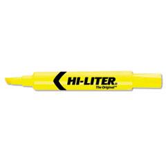 HI-LITER Desk Style Highlighter, Chisel Tip, Yellow Ink, 1 Dozen