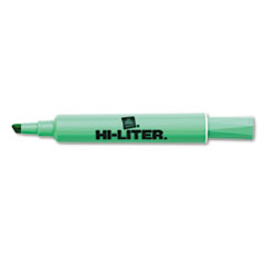 HI-LITER Desk Style Highlighter, Chisel Tip, Light Green Ink, 1 Dozen