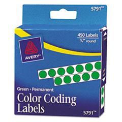 Avery®-LABEL,.25RND,450/PK,GN