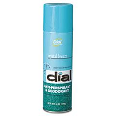 Dial Scented Anti-Perspirant & Deodorant, Crystal Breeze, 6oz Aerosol, 12/Carton