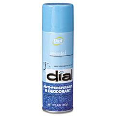 Dial Unscented Anti-Perspirant & Deodorant, 4oz Aerosol, 24/Carton