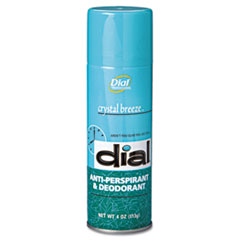 Dial Scented Anti-Perspirant & Deodorant, Crystal Breeze, 4oz Aerosol, 24/Carton