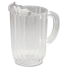 RCP 3336CLE Rubbermaid Commercial Bouncer Plastic Pitcher RCP3336CLE