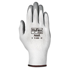 AnsellPro GLOVES HYFLX FOAM LG Hyflex Foam Gloves, White-gray, Size 9, 12 Pairs