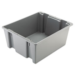 "Rubbermaid® Commercial BOX PALLETOE 2.0CU FT GY PALLETOTE BOX, 19 GAL, 23.5"" X 19.5"" X 10"", GRAY"