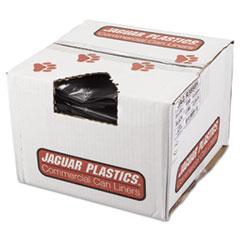 "Jaguar Plastics® LINER REPRO 38X58 1.5MIL REPRO LOW-DENSITY CAN LINERS, 60 GAL, 1.5 MIL, 38"" X 58"", BLACK, 100-CARTON"