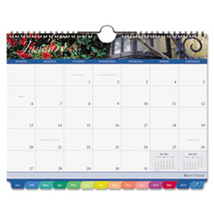 Day-Timer Garden Path Tabbed Monthly Wall Calendar, 11 x 8-1/2, 2013